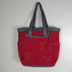 ROXY Padded Tote / Laptop Bag Red Soft